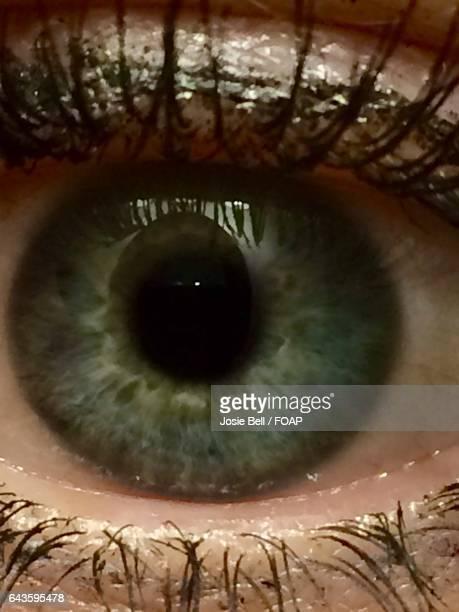 extreme close-up of person eye - josie photos et images de collection