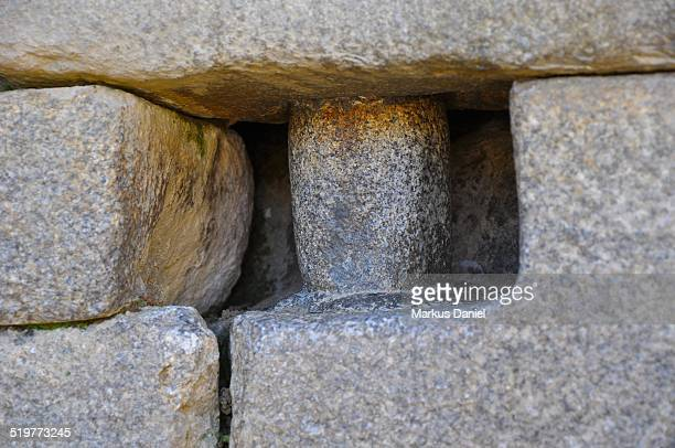 "extreme closeup of stone pin - ""markus daniel"" stock pictures, royalty-free photos & images"
