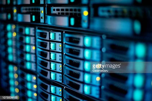 extreme close-up of supercomputer - data center stock pictures, royalty-free photos & images