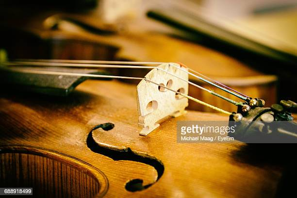 Extreme Close-Up Of Violin String