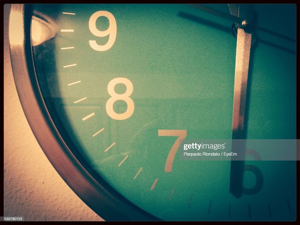 Extreme Close-Up Of Wall Clock : Foto stock
