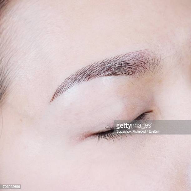 Extreme Close-Up Of Woman Closed Eye