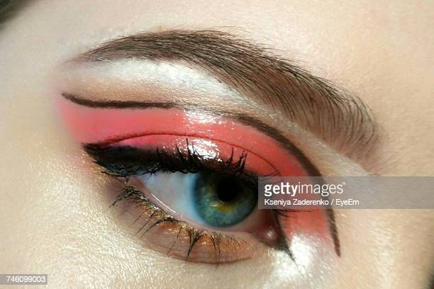 Extreme Close-Up Of Woman Eye With Make-Up