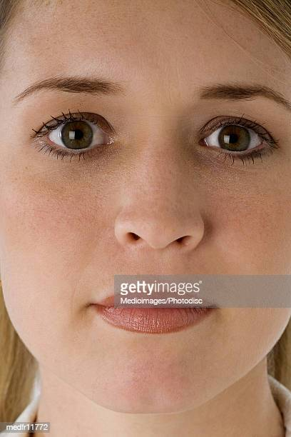 Extreme close-up of woman's face
