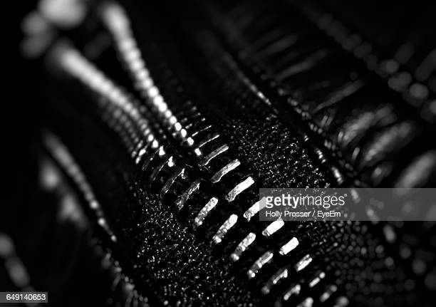 Extreme Close-Up Of Zipper