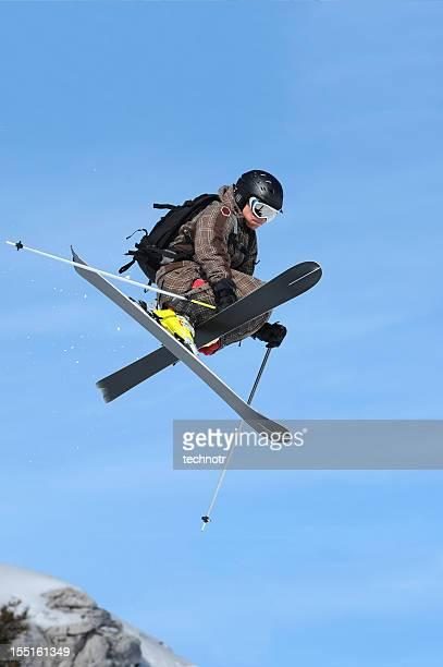 極端なフリーライドスキーにミッド air