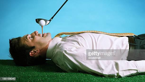 extremes golf - golf lustig stock-fotos und bilder
