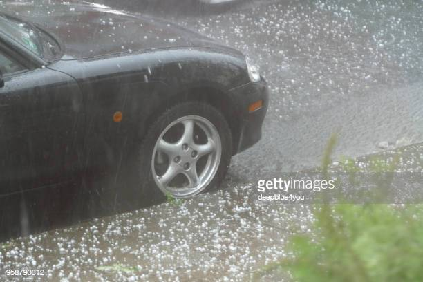 extreme hailstorm - hail stock pictures, royalty-free photos & images