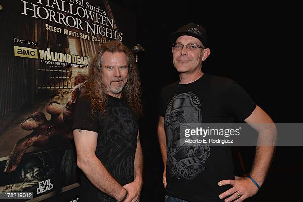 "Extreme horror make-up artist Larry Bones and ""Halloween Horror Nights"" creative director John Murdy attend Universal Studios' ""Halloween Horror..."