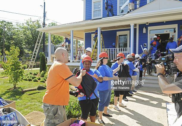 EDITION Extreme Makeover Home Edition travels to Prince George's County MD with celebrity volunteer Tyler Perry to tell Nikema aka Tripp and Tamara...