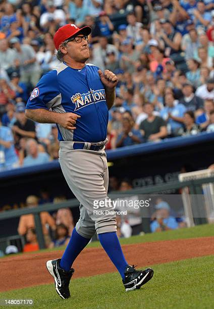 Extreme Makeover Home Edition's Paul Dimeo attends the 2012 Taco Bell AllStar Legends Celebrity Softball Game at Kauffman Stadium on July 8 2012 in...