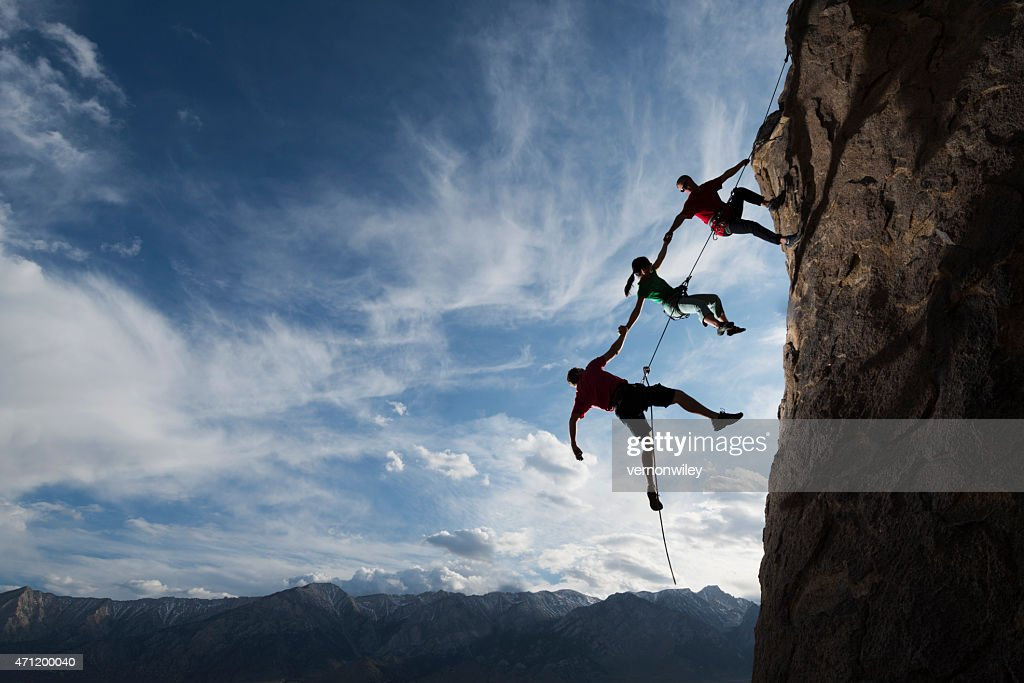 extreme rappelling : Stock Photo