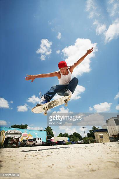 Extreme skateboarder