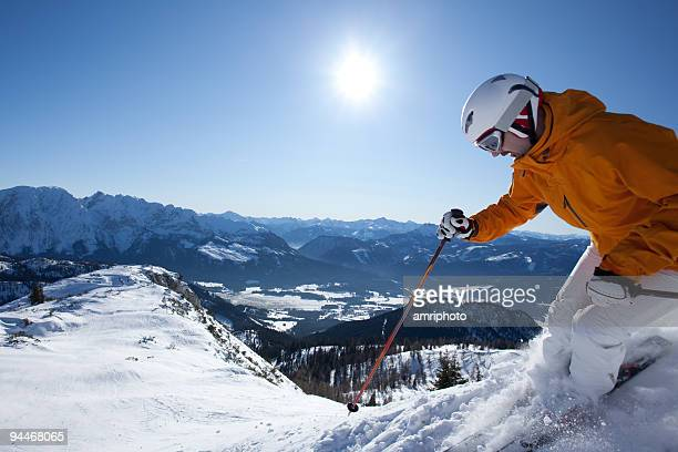 extreme skier in austrian alps