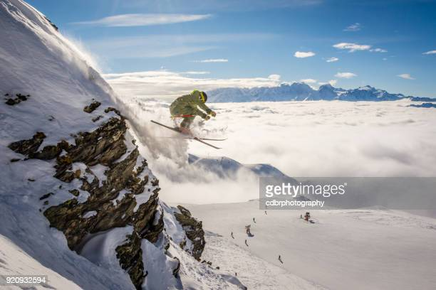 Extreme Skier in Verbier, Switzerland
