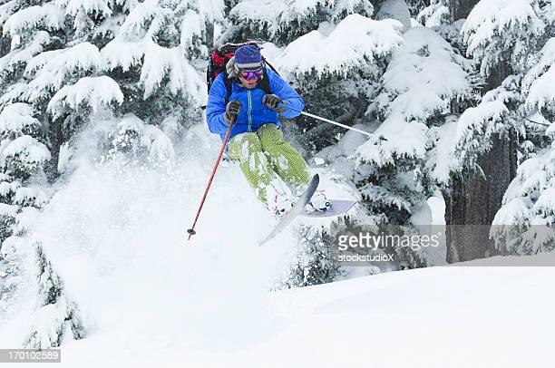Extreme esquiador