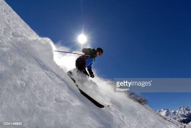 extremski in st. anton, österreich - wintersport stock-fotos und bilder