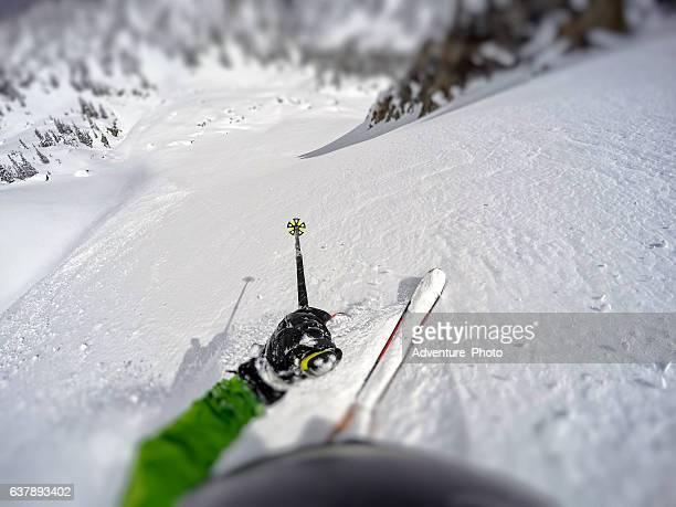 Extreme Skiing Mountains POV