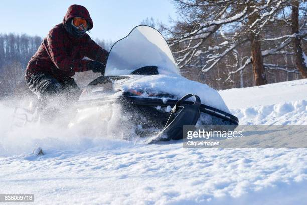 extreme snowmobile racing - cliqueimages stock pictures, royalty-free photos & images