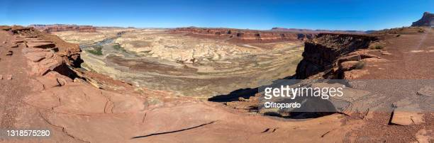 extreme wide shot from the hite overlook looking over lake powell - fitopardo stock pictures, royalty-free photos & images