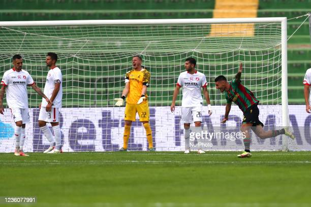 Exultation of Partipilo Anthony and disappointment of Grandi Matteo during the Italian Football Championship League BKT Ternana Calcio vs LR Vicenza...