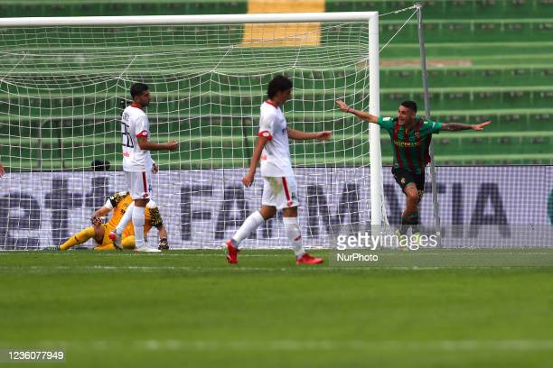 Exultation of Partipilo Anthony and disappointment Plaiers of during the Italian Football Championship League BKT Ternana Calcio vs LR Vicenza on...