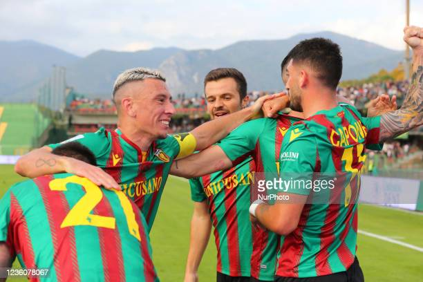 Exultationof Ternana during the Italian Football Championship League BKT Ternana Calcio vs LR Vicenza on October 23, 2021 at the Stadio Libero...