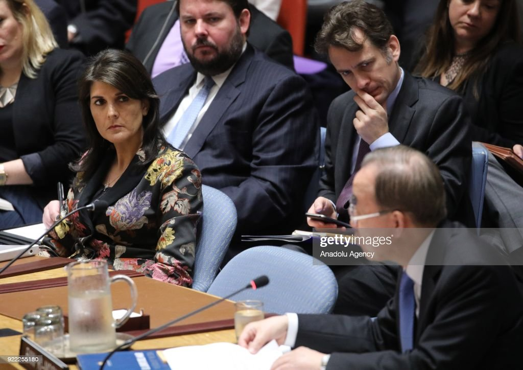 United Nations Security Council meeting : News Photo