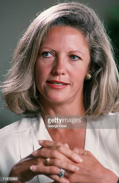 Exwife of media mogul Rupert Murdoch Anna Murdoch poses during a 1988 Los Angeles California photo portrait session She was awarded a settlement of...