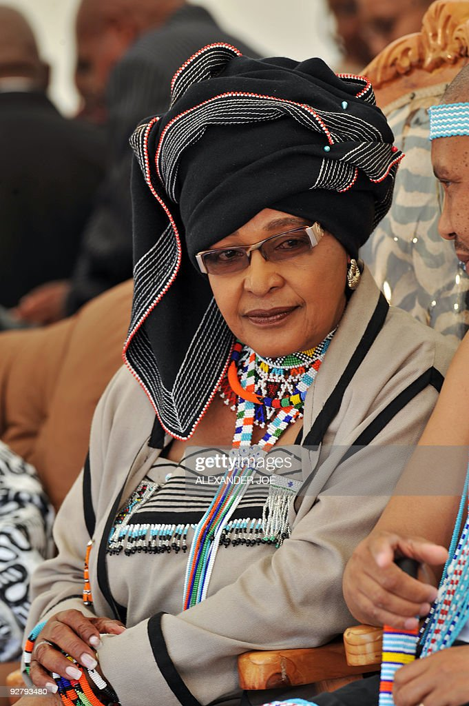 Ex-wife of Nelson Mandela Winnie Madikiz : News Photo