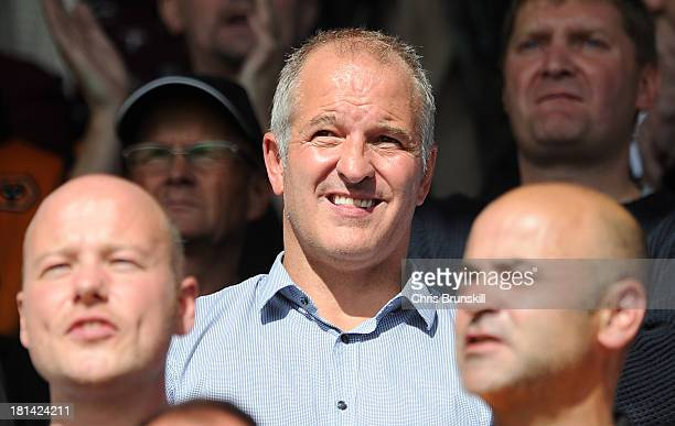 ExWolverhampton Wanderers player Steve Bull looks on from the stand during the Sky Bet League One match between Shrewsbury Town and Wolverhampton...