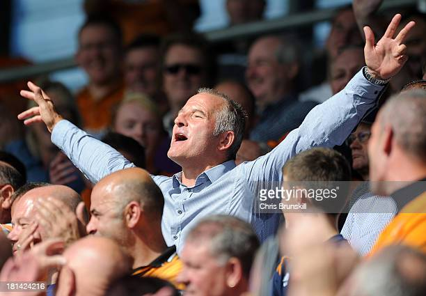 ExWolverhampton Wanderers player Steve Bull supports his team during the Sky Bet League One match between Shrewsbury Town and Wolverhampton Wanderers...