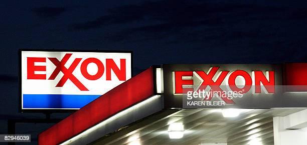 A Exxon sign is seen at a station on September 20 2008 photo in Manassas Virginia AFP PHOTO/Karen BLEIER