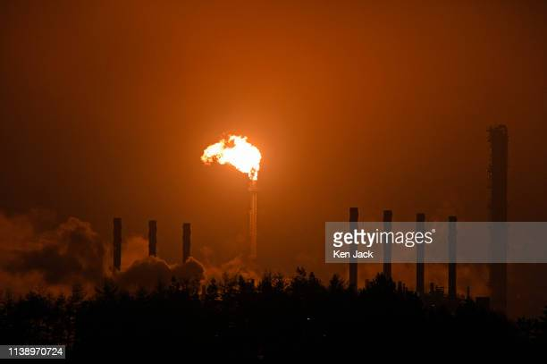 ExxonMobil's Fife Ethylene Plant where unplanned flaring following a malfunction has caused concern amongst local residents on April 23 2019 in...
