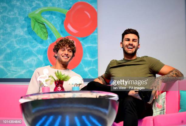 Eyal Booker and Adam Collard attending the Love Island Live photocall at the ExCel London