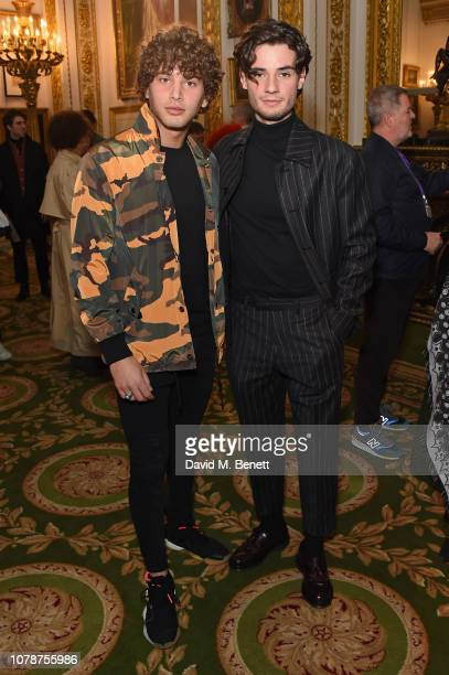 Eyal Booker and Jack Brett Anderson attend the Barbour presentation during London Fashion Week Men's January 2019 at Lancaster House on January 7...