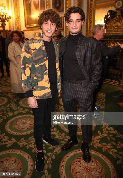 Eyal Booker and Jack Brett Anderson on the front row during London Fashion Week Mens January 2019 on January 07 2019 in London England