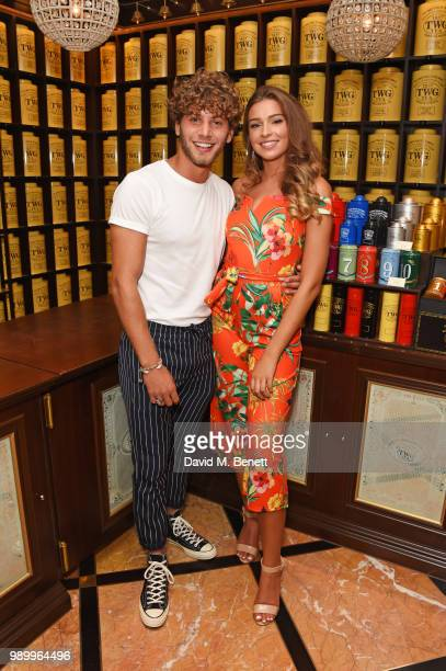 Eyal Booker and Zara McDermott attend the TWG Tea Gala Event in Leicester Square to celebrate the launch of TWG Tea in the UK on July 2 2018 in...