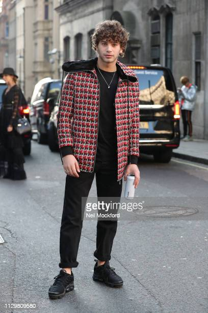 Eyal Booker attends Mark Fast runway show at BFC Show Space during LFW February 2019 on February 15 2019 in London England