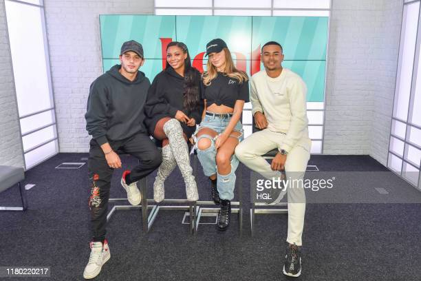 Eyal Booker Samira Mighty Zara McDermott Wes Nelson of The Islanders visit Heat Magazine ahead of their appearance on XFactor Celebrity on October 10...