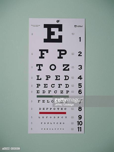 eye chart - eye chart stock pictures, royalty-free photos & images