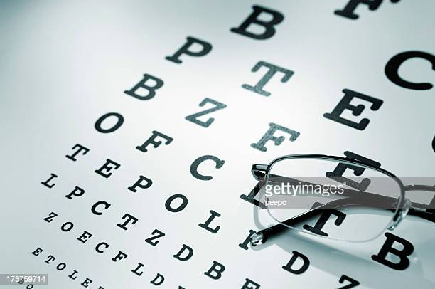 eye chart series - eye chart stock pictures, royalty-free photos & images