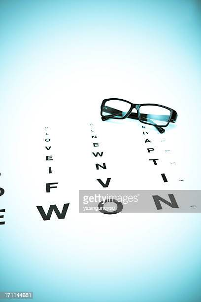 eye charts series - myopia stock photos and pictures