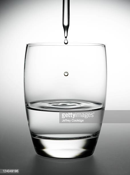 eye dropper and water glass - pipette stock pictures, royalty-free photos & images