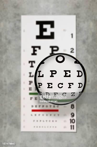 eye exam chart - eye chart stock pictures, royalty-free photos & images