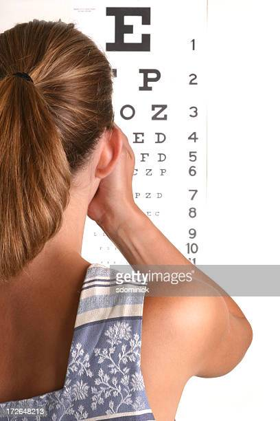 eye exam - eye chart stock photos and pictures