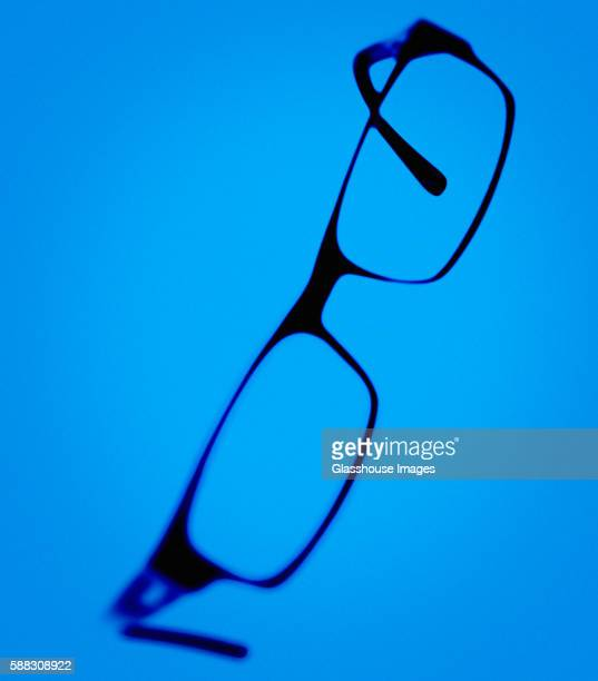 Eye Glasses, Blue Backdrop