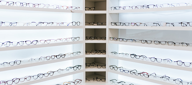 Eye glasses in ophthalmology clinic 930862616