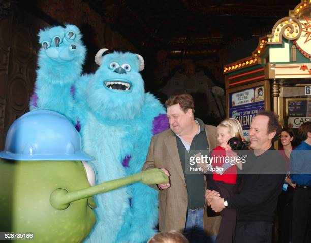 Eye James P Sullivan John Goodmann Billy Crystal and Mary Gibb at the premiere of Disney/Pixar's Monsters Inc