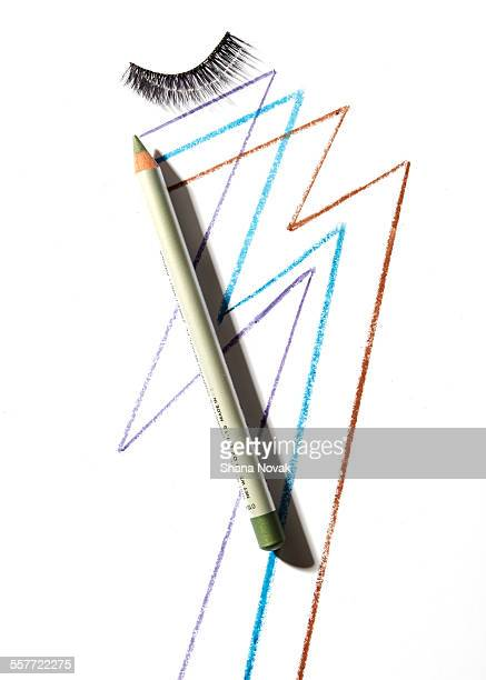 eye liner pencil and lash - eye liner stock pictures, royalty-free photos & images